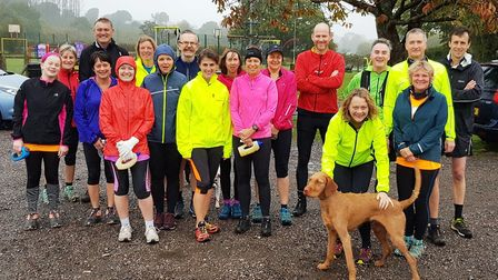 Sidmouth Running Club's Sunday club group. Picture CONTRIBUTED