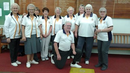 Sidmouth bowlers – and markers – who were involved in the club championship matches that were played