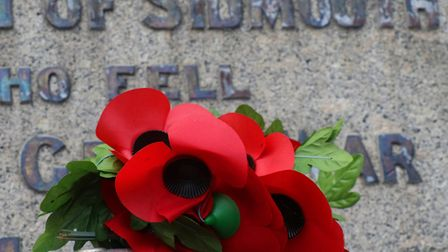 Sidmouth Remembrance Sunday service. Picture: Simon Horn