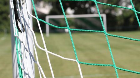 Football goalnet. Ref shsp 7216-33-15SH. Picture: Simon Horn
