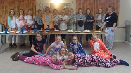 1st Sidmouth Guides at their pyjama party Picture:1st Sidmouth Guides