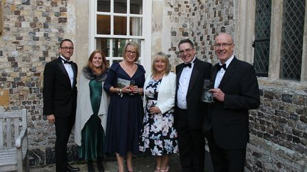 Mike Harms, Kate Few-Singh, Ann Blake, Adele and Ian Hunt and Geoff Pringle at the event. Picture: P