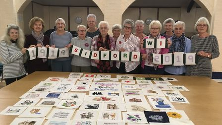 Sidford WI have received a £1,000 grant from the Keith Owen Fund towards its centenary project. Pict