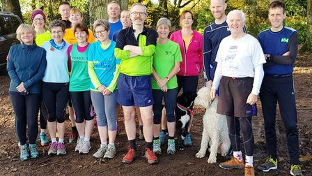 Sidmouth Running Club Sunday morning group before another run. Picture CONTRIBUTED