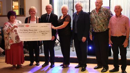 The cheque presentation made to Sidmouth Memory Cafe by Sidmouth Conservative Club. Picture: Sidmout