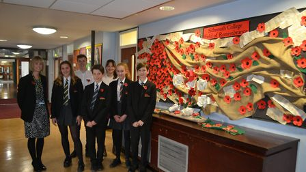 Students at Sidmouth College took part in a number of events to commemorate the 100th anniversary ma