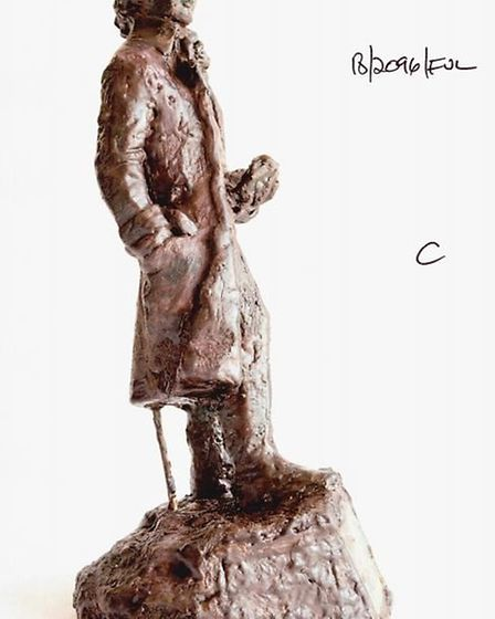 A side view of a maquette designed by sculptor Nicholas Dimbleby. Picture: JUDITH COX