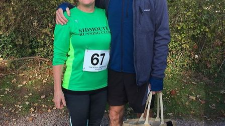 John and Cathy Keast at the 10k in North Wales. Picture CONTRIBUTED