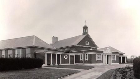 Colyton Grammar School after being constructed on its new site at Colyford in 1929. Picture: CONTRIB