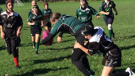 Sidmouth girls Under-13 action from their game at Bideford. Picture CONTRIBUTED