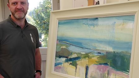 Matt Falkner of Riverford Organic Ve,g whose favourite work of art is a painting by Jo Vollers entit