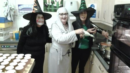 Sidmouth bowlers dressed up for the club Halloween Evening. Picture CONTRIBUTED