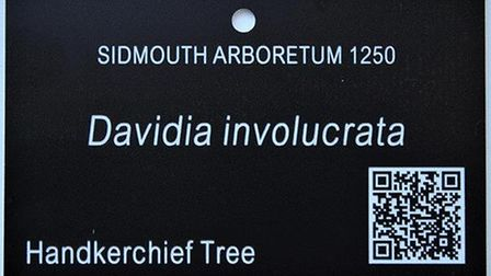An example of a label that will be going on trees around Sid Valley. Picture: Contributed