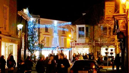 Sidmouth Christmas lights switch-on 2017. Picture: Eve Mathews