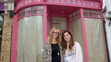 Jemma Lascelle and Polly McLachlan outside their new shop Crane & Kind. Ref shs 44 18TI 4110. Pictur