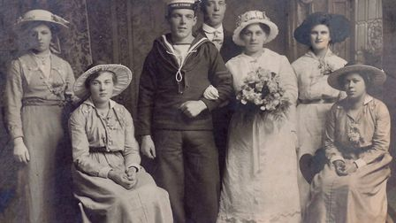 Ernest and Ethel's wedding day picture. Picture: Di Tapley