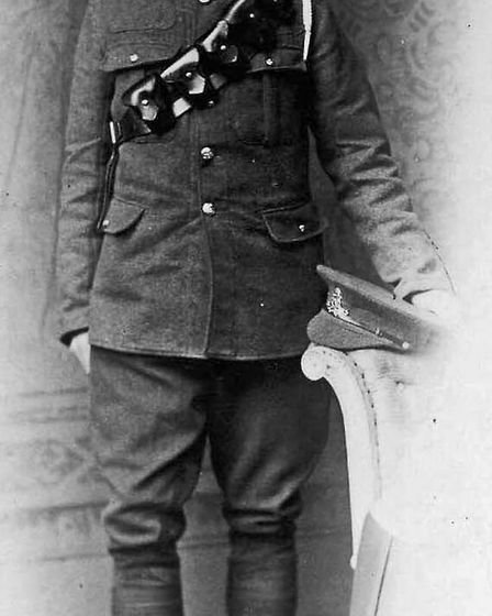 Ralph Clode in his uniform. Picture: Adrian Clode