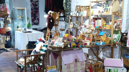 The Pop Up Vintage display. Picture: LYME TOWN MILL