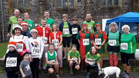 Sidmouth Running Club members at the 2019 Reindeer Run that started and finished at Otterton. Pictur