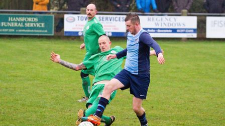 Beer Albion 2nds at home to Otterton 1st team. Ref mhsp 48 18TI 5530. Picture: Terry Ife