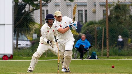 Nick Gingell batting for Sidmouth at home to Paington. Ref shsp 19 17TI 2350. Picture: Terry Ife