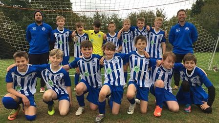 Ottery St Mary Under-13s who have made a superb start to the season, winning six successive matches.