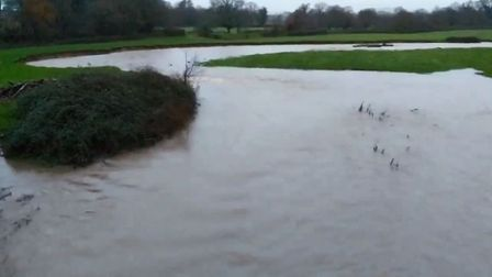 The River Otter is among a number of sites that have a flood warning in place. Picture: Sam Cooper
