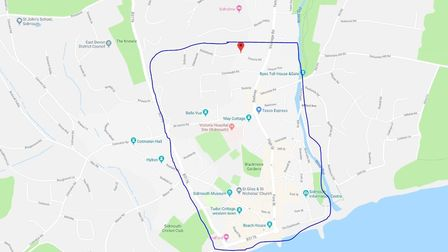 A rough outline of the roads that might be included in the traffic order for resident parking in Sid