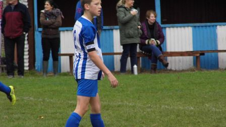 Ottery St Mary Under-13s skipper Finn Lashbrook. Picture STEPHEN UPSHER