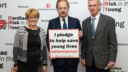 Sir Hugo Swire attends CRY Parliamentary Reception 2018 with Sidmouth residents Marian and Robert Ha