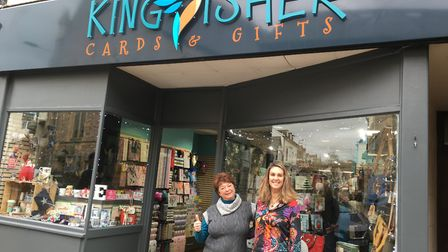 Tiffany Leach in her new shop, Kingfisher Gifts and Cards. Picture: Clarissa Place
