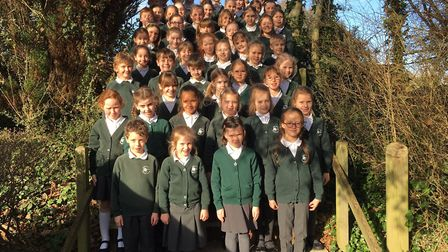 The West Hill Primary School Choir who came first in a BBC Radio Devon competition. Picture: West Hi