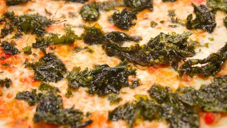 Seaweed pizza. Ref shs 49 18TI 6319. Picture: Terry Ife