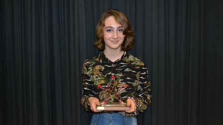 The Thelma Hulbert Award for Achievement in the Arts went to Abigail Tinnion. Picture: Charlotte Pol