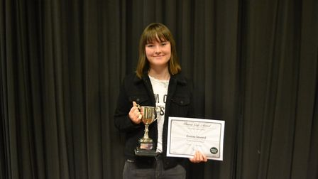 The Pinney Cup for the Best Overall GCSE Results was awarded to Emma Seward. Picture: Charlotte Poll