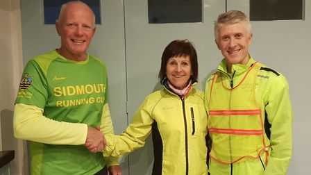 Terry Bewes welcomes Sarah Watkins into the role of vice chair at Sidmouth Running Club. Also in the
