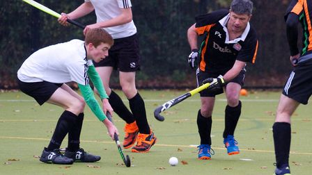 Sidmouth and Ottery mens 3rds take on the mens 4th team. Ref shsp 48 18TI 5409. Picture: Terry Ife