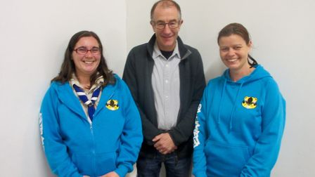 John Keast, Sidmouth's new group leader, is joined by Haidee Mason - parent helper and Donna Womersl