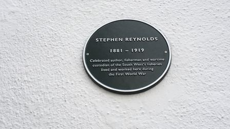 The Stephen Reynolds plaque outside Sidmouth Museum. Picture: Beth Sharp