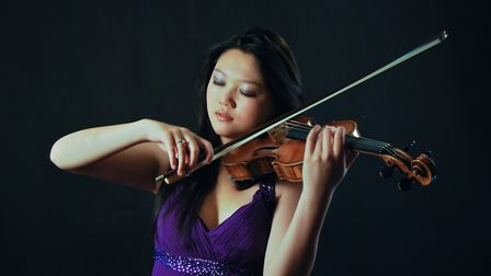 Internationally-acclaimed young violinist Emily Sun. Picture: John Zhang
