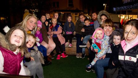 Sidmouth christmas lights switch on. Ref shs 47 18TI 5275. Picture: Terry Ife