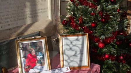 A tree dedicated to Phyliss Baxter at Ottery's christmas tree festival. Ref sho 48 18TI 5819. Pictur