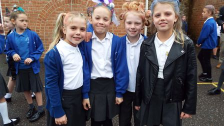 Children from East Devon schools donned their spotty clothes and sported their craziest hair to rais