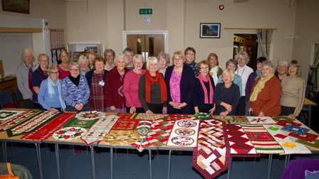 Members of Sidmouth Patchers and Quilters Group. Ref shs 46 18TI 4887. Picture: Terry Ife