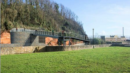 The newly approved plans for the River Sid footbridge. Picture: Devon County Council