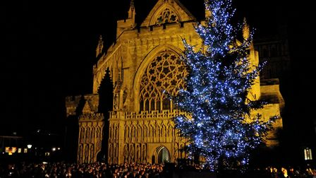 A former Light Up a Life event at Exeter: Picture: Hospiscare