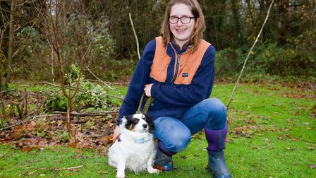 ARC staff with Pippa the terrier. Ref shs 49 18TI 6345. Picture: Terry Ife