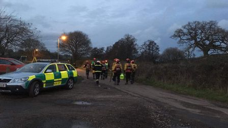 Emergency services on their search. Picture: Clarissa Place