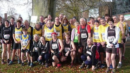 AVR and Honiton Running Club members at the Bicton Blister. Picture CONTRIBUTED