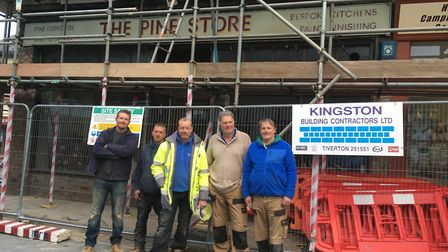 Members of the building team from Kingston Building Contractors. Picture: Clarissa Place